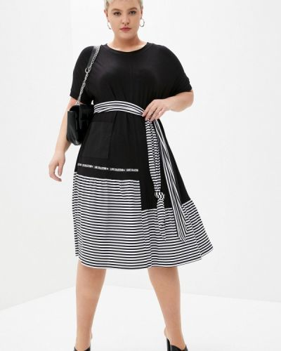 Повседневное черное платье Intikoma