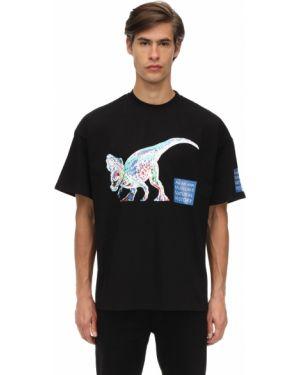 Czarny t-shirt bawełniany z printem An An Ann