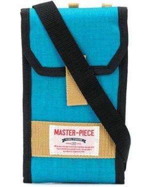 Бирюзовая нейлоновая сумка на плечо Master Piece