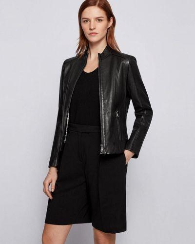 Черная кожаная куртка Boss