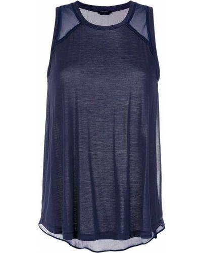 Шелковая блузка - синяя Tufi Duek