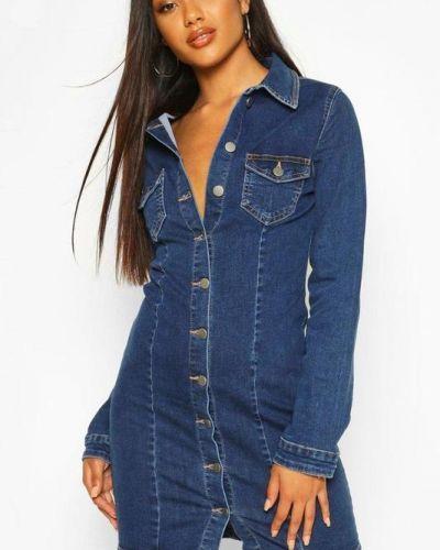 Джинсовое платье - синее Boohoo