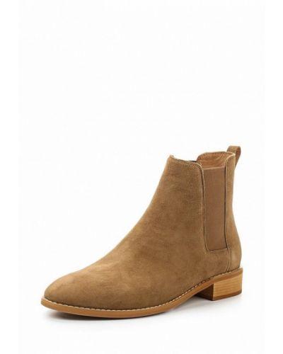 Ботинки челси коричневые на каблуке 12storeez