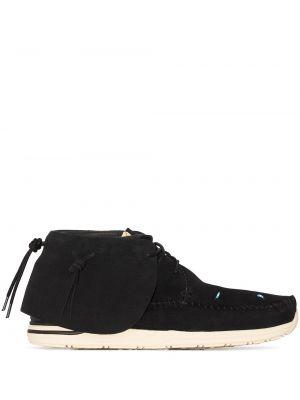 Czarne buty sportowe zamszowe Visvim