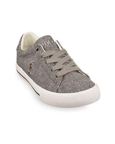 Sneakersy sznurowane koronkowe bawełniane Polo Ralph Lauren