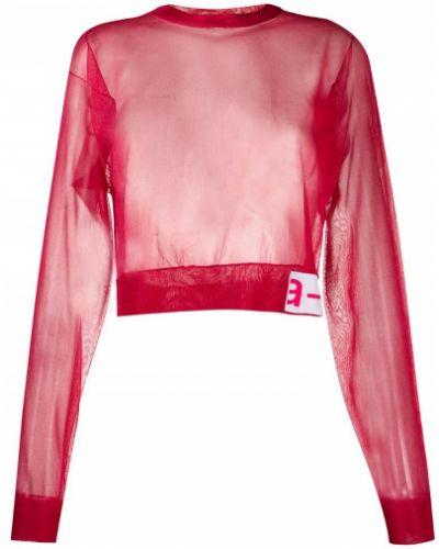 Свободная розовая блузка со спущенными плечами прозрачная Artica Arbox