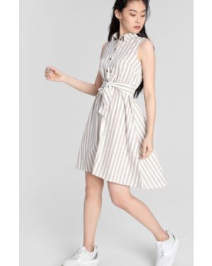 Платье макси в полоску на пуговицах Ostin