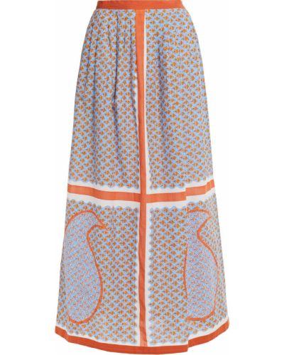 Хлопковая синяя плиссированная юбка макси Antik Batik