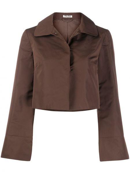 Темно-синяя классическая длинная куртка с манжетами Miu Miu Pre-owned