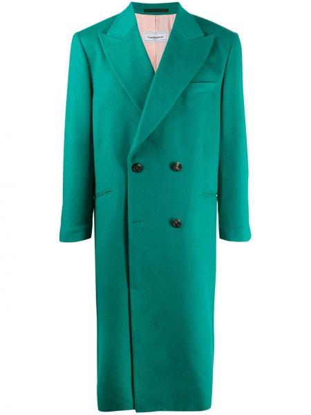 Klasyczny z kaszmiru zielony płaszcz Casablanca