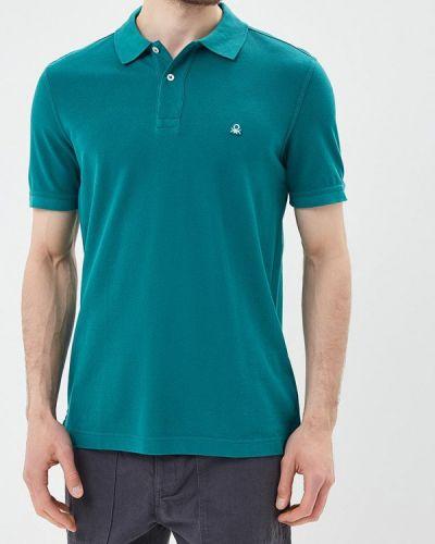 Бирюзовое поло с коротким рукавом United Colors Of Benetton
