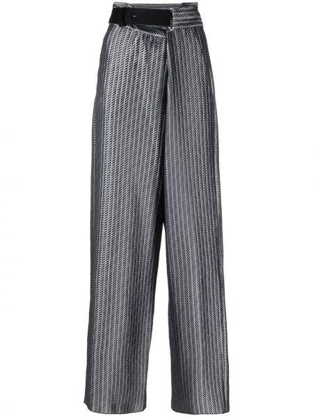 С завышенной талией серые брюки с карманами Giorgio Armani
