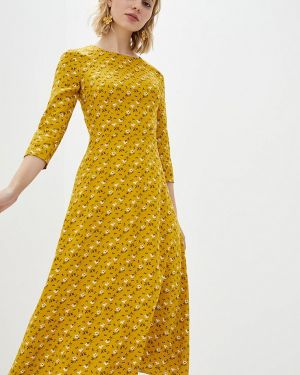 Повседневное платье весеннее желтый Lilove