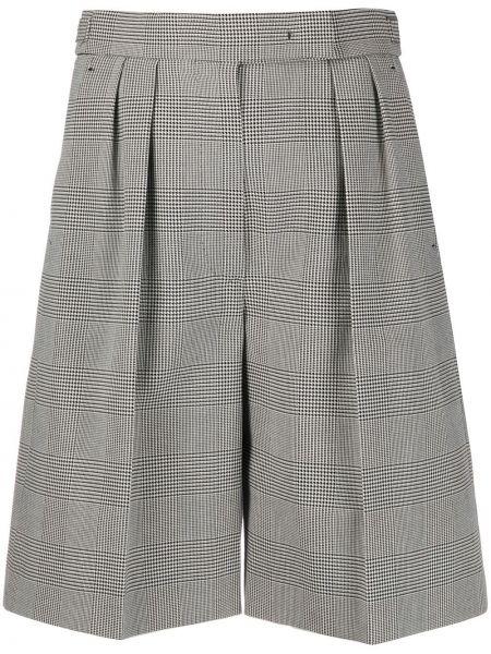 Однобортные хлопковые шорты с карманами Max Mara