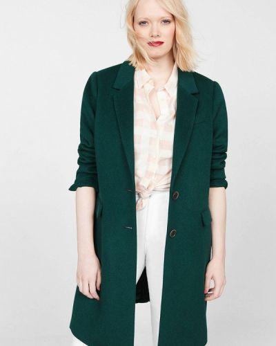 Пальто демисезонное зеленое Violeta By Mango