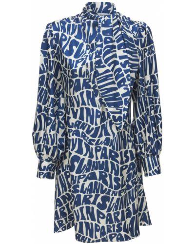Шелковое платье - синее Lanvin
