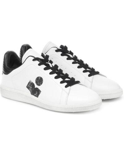 Повседневные белые кожаные кроссовки из натуральной кожи Isabel Marant