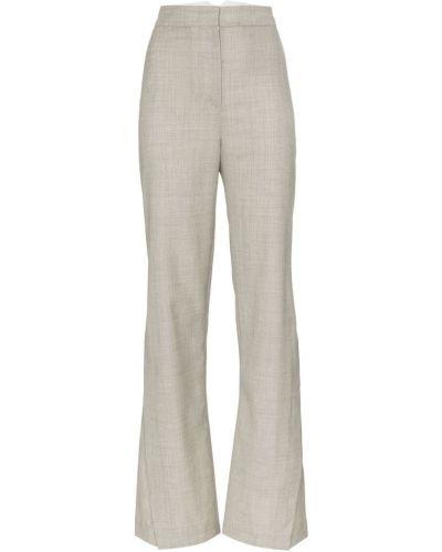 Расклешенные свободные брюки с карманами на пуговицах Wright Le Chapelain