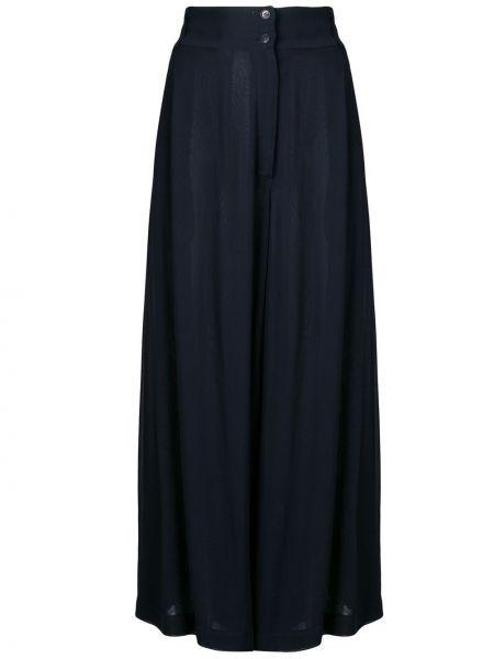 Плиссированные свободные брюки винтажные на пуговицах из вискозы Dolce & Gabbana Pre-owned