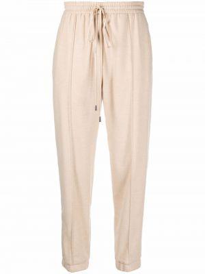 Бежевые шерстяные брюки Antonelli
