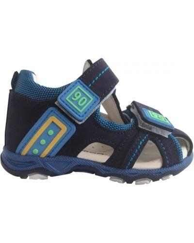 Темно-синие мягкие босоножки из нубука Minimen