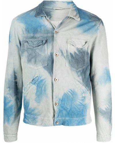 Niebieska klasyczna koszula bawełniana z długimi rękawami Giorgio Brato