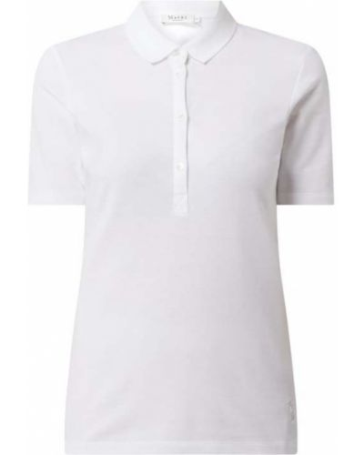 Biały t-shirt bawełniany Maerz Muenchen