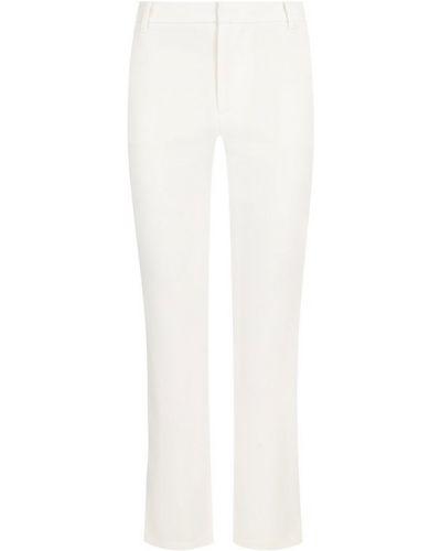 Белые укороченные брюки из вискозы Alice + Olivia