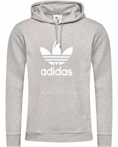 Szary ciepły bluzka Adidas