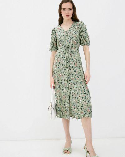 Прямое зеленое платье А-силуэта B.young