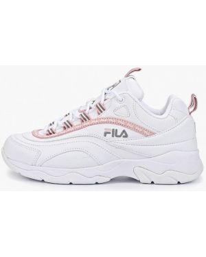 Кроссовки из искусственной кожи белый Fila