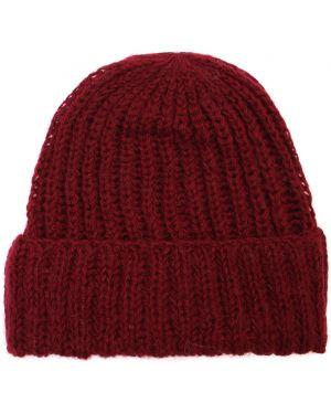Красная шапка из мохера с отворотом эластичная Chapurin