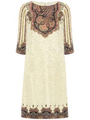 Шелковое белое платье Etro