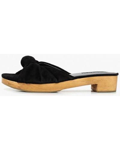 Сабо кожаные черные Mango