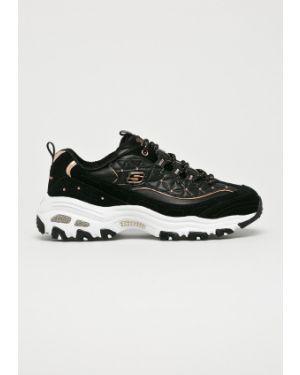 Черные текстильные кроссовки Skechers
