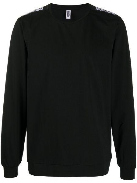 Prosto bawełna czarny bluza rozciągać Moschino