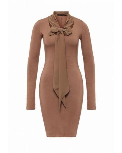Бежевое платье с длинными рукавами Fornarina