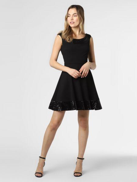 Czarna sukienka z cekinami Paradi