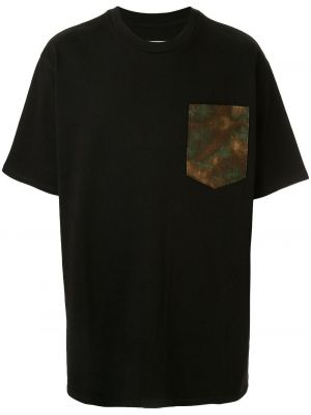 Czarny t-shirt bawełniany z haftem Just Don