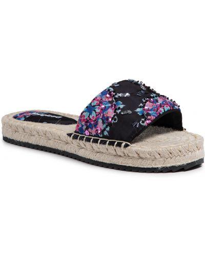 Sandały espadryle - czarne Desigual