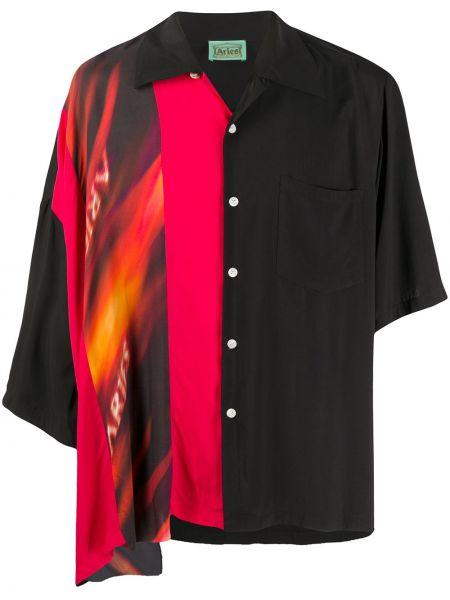 Koszula klasyczna prosto czarna Aries