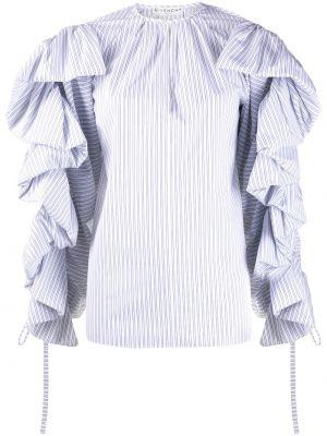 Bluzka w paski biała Givenchy