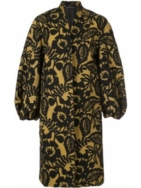 Коричневое шерстяное пальто с капюшоном Josie Natori
