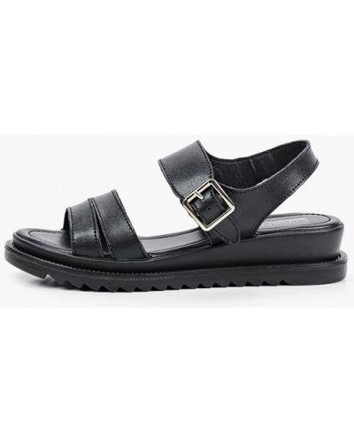 Черные кожаные сандалии Covani