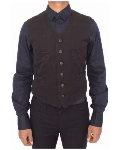 Czarna kamizelka bawełniana Dolce And Gabbana