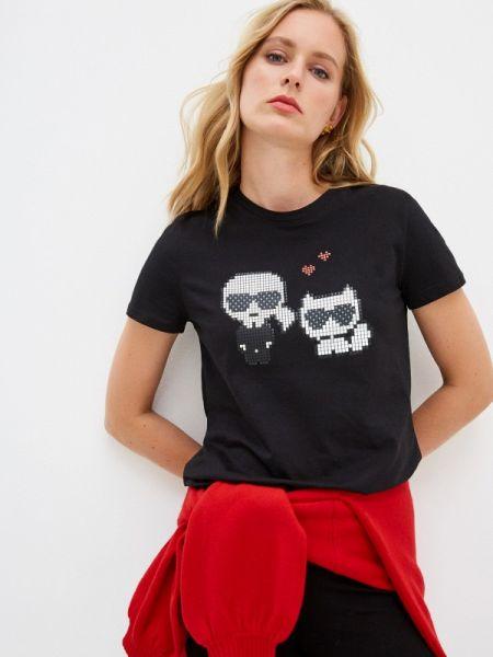 Поло футбольный черное Karl Lagerfeld