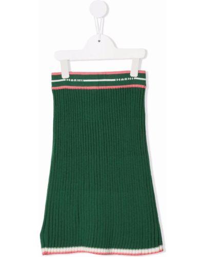 Zielona spódnica prążkowana Marni Kids
