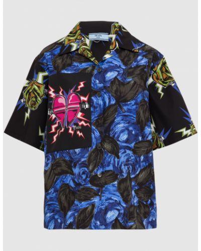 Черная блузка Prada