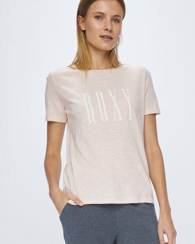 Розовая футболка прямая Roxy
