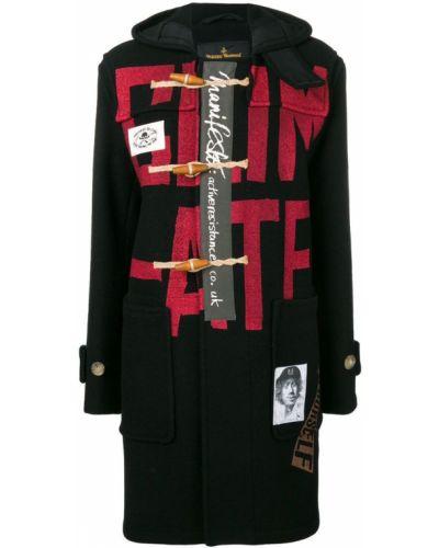 Шерстяное черное пальто Vivienne Westwood Anglomania